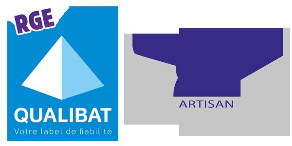 MBA MENUISERIE - logos RGE qualibat et qualité artisan