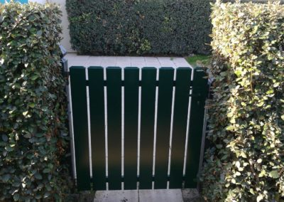 Portillon PVC laqué Vert - MBA MENUISERIE