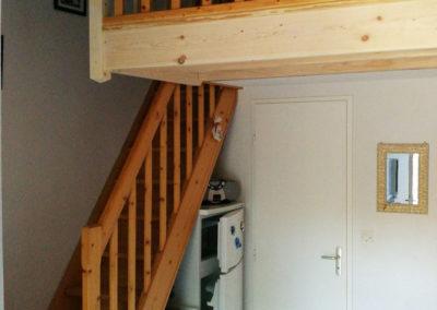 Escalier pour mezzanine - MBA MENUISERIE