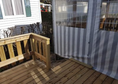 Terrasse en bois pour mobil home - MBA MENUISERIE
