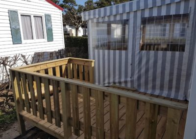 Terrasse en bois pour mobil home 2 - MBA MENUISERIE