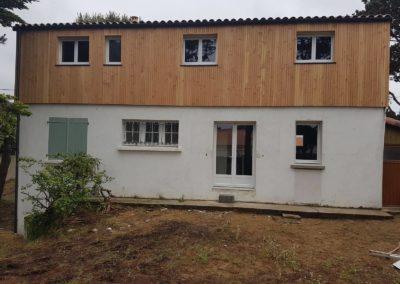Maison après rehaussement en bois - MBA MENUISERIE