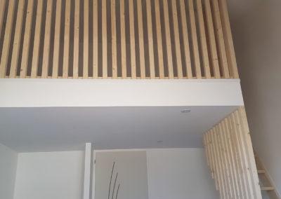 Mezzanine en bois avec escalier - MBA MENUISERIE