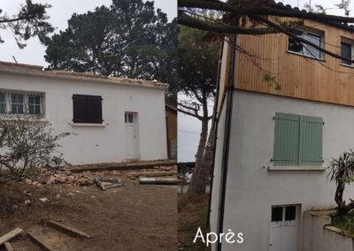 Maison avant / après rehaussement en bois - MBA MENUISERIE