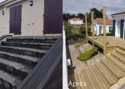 Avant / après terrasse en bois - MBA MENUISERIE