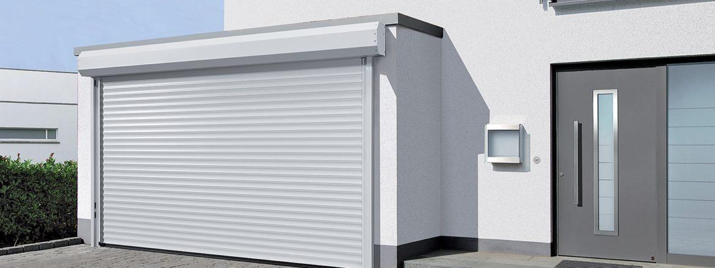 Menuise ext rieure porte d 39 entr e garage mba menuiserie - Porte enroulable garage ...
