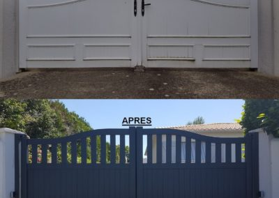 Remplacement d'un portail PVC par un portail Aluminium motorisé